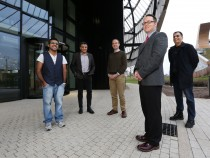 (L-R): Hara Two (LiveTheGo), Manjit Rana (Ingenin), Rob Johnson (Research Consulting), Mark Tock (Operations Director UNIP), Naseem Iqbal (Moby Tap Ltd)