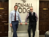 Tom Wilton, operations director at Foxhall Business Centres (left) with John Rowley, CEO of Import China UK