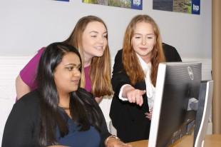(L-R) Simran Gangarh, Katie White and Hannah Rawson